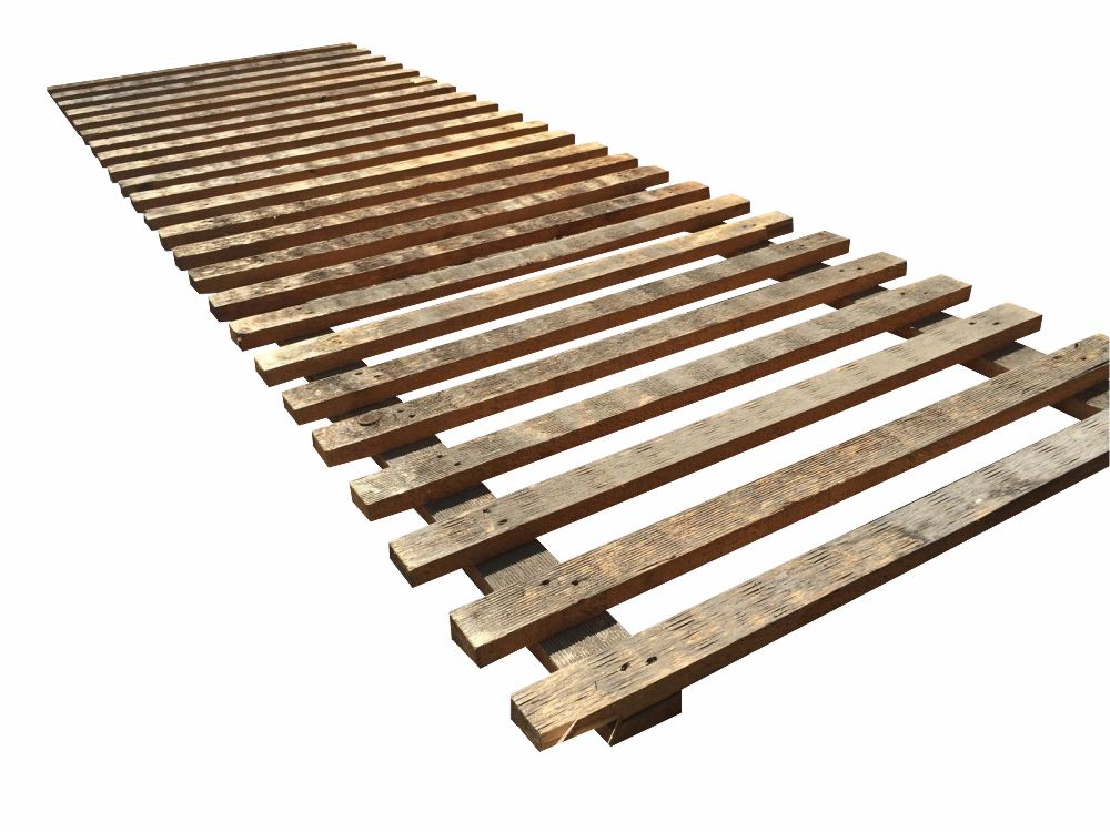 Used, Slatted Timber Decking, Pallet Racking