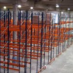 Pallet - Black Frame with Orange Beam, Pallet Support Bar and Crash Barrier (RAL 2001)